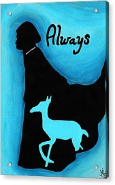 Always Doe In Snape Acrylic Print by Jera Sky