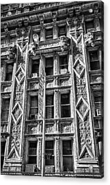 Alwyn Court Building Detail 15 Acrylic Print by Val Black Russian Tourchin