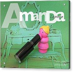 Amanda Lepore Acrylic Print by Ricky Sencion