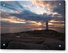 Amazing Sunset At Peggy's Cove Acrylic Print by Andre Distel