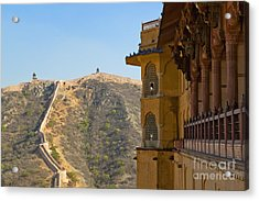 Amber Fort And Wall Acrylic Print by Inti St. Clair