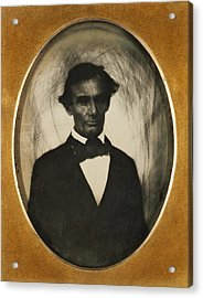 Ambrotype Of Abraham Lincoln, Taken Acrylic Print by Everett