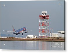 American Airlines Jet Airplane At San Francisco International Airport Sfo . 7d12073 Acrylic Print by Wingsdomain Art and Photography