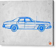 American Car Acrylic Print by Naxart Studio
