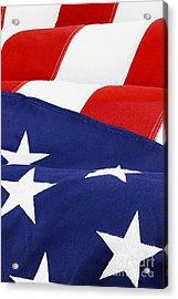 American Flag Acrylic Print by Stephanie Frey