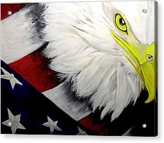 American Pride Acrylic Print by Melissa Torres