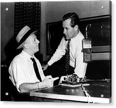 American Radio Commentators Walter Acrylic Print by Everett