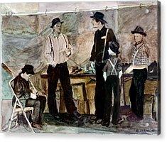 Amish Market Acrylic Print by Ethel Vrana