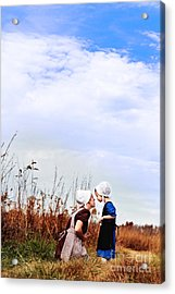 Amish Mother And Child Acrylic Print by Stephanie Frey