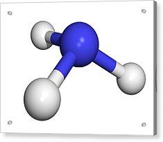 Ammonia Molecule Acrylic Print by Dr Tim Evans