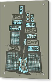 Ampliphones Acrylic Print by A Hornsby