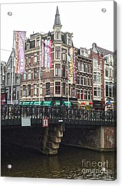 Amsterdam Canal Bridge - 04 Acrylic Print by Gregory Dyer