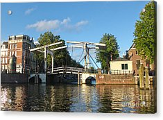 Amsterdam Canal Drawbridge Acrylic Print by Gregory Dyer