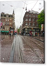 Amsterdam Rainy Day Acrylic Print by Gregory Dyer
