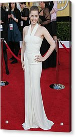 Amy Adams Wearing A Herve Leroux Gown Acrylic Print by Everett