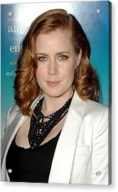 Amy Adams Wearing A Tom Binns Necklace Acrylic Print by Everett