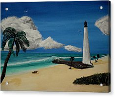 An Afternoon By The Lighthouse Acrylic Print by Spencer Hudon II