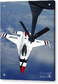 An Altus Kc-135 Stratotanker Refuels Acrylic Print by Stocktrek Images