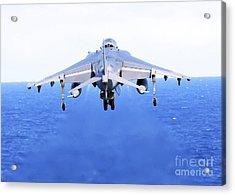 An Av-8b Harrier Jet Launches Acrylic Print by Stocktrek Images