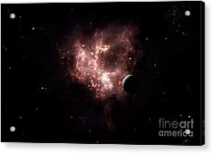 An Emission Nebula Is Viewed From Neaby Acrylic Print by Brian Christensen