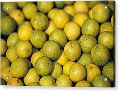 An Enticing Display Of Lemons Acrylic Print by Jason Edwards