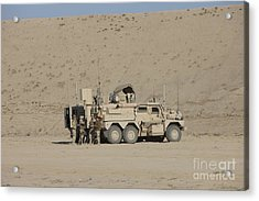 An Eod Cougar Mrap In A Wadi Acrylic Print by Terry Moore