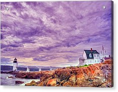 An Evening In Maine Acrylic Print by Darren Fisher