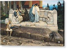 An Exedra Acrylic Print by Sir Lawrence Alma-Tadema