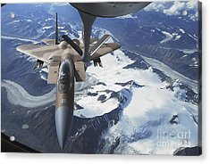 An F-15c Eagle Aircraft Sits Acrylic Print by Stocktrek Images