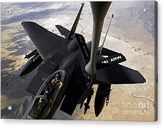 An F-15e Strike Eagle Aircraft Receives Acrylic Print by Stocktrek Images