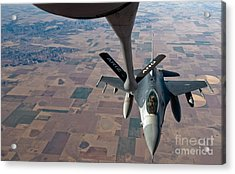 An F-16 Fighting Falcon Moves Acrylic Print by Stocktrek Images