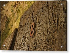 An Old Door At A Prison Acrylic Print by Ellie Teramoto