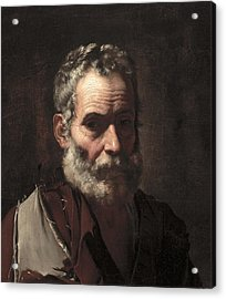 An Old Man Acrylic Print by Jusepe de Ribera