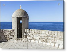 An Outpost Overlooking The Adriatic Sea Acrylic Print by Greg Stechishin