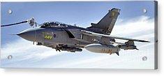 An Raf Tornado Gr-4 Takes On Fuel Acrylic Print by Stocktrek Images