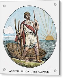 Ancient Briton And Coracle Acrylic Print by Granger