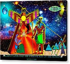 Ancient Gods Acrylic Print by Myztico Campo