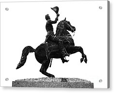 Andrew Jackson Statue Jackson Square French Quarter New Orleans Glowing Edges Digital Art Acrylic Print by Shawn O'Brien