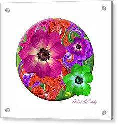 Anemone Craziness Acrylic Print by Kathie McCurdy