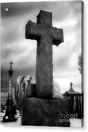 Angel And Cross Acrylic Print by Jeff Holbrook
