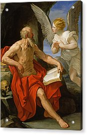 Angel Appearing To St. Jerome Acrylic Print by Guido Reni
