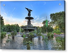 Angel Of The Waters Fountain  Bethesda II Acrylic Print by Lee Dos Santos