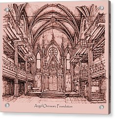 Angel Orensanz Centre In Pink  Acrylic Print by Building  Art