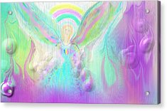 Angel Working Acrylic Print by Rosana Ortiz