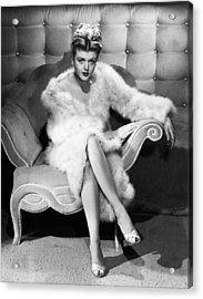 Angela Lansbury, 1946 Acrylic Print by Everett