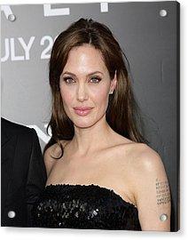 Angelina Jolie At Arrivals For Salt Acrylic Print by Everett