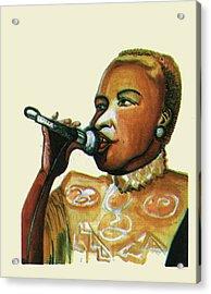 Angelique Kidjo Acrylic Print by Emmanuel Baliyanga