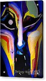 Anger Fcae Acrylic Print by Beltagy Beltagyb