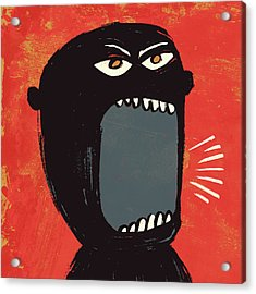 Angry Shout Man Illustration Acrylic Print by Don Bishop
