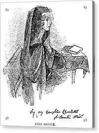 Anne BrontË (1820-1849) Acrylic Print by Granger